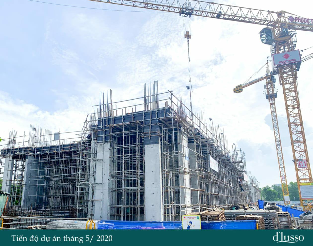 Tiến độ thi công cuối tháng 5 của dự án căn hộ Quận 2 d'lusso