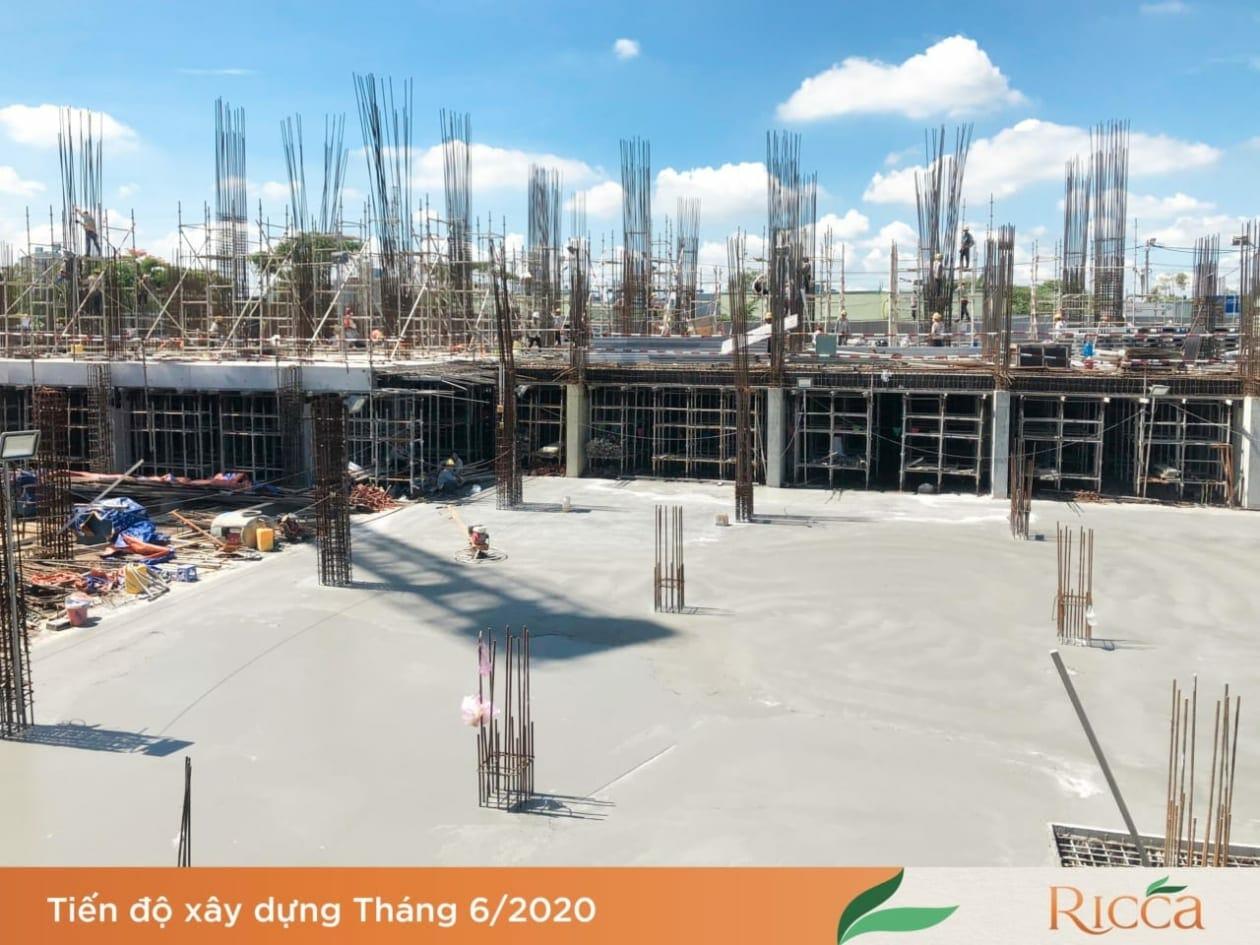 Cập nhật tiến độ thi công dự án Ricca Quận 9
