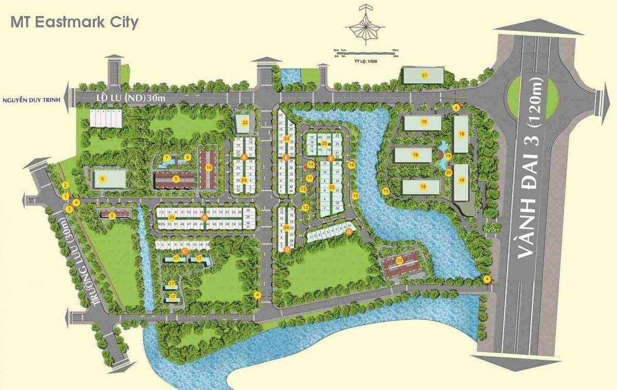 Tiện ích nội khu cao cấp của dự án MT EASTMARK CITY