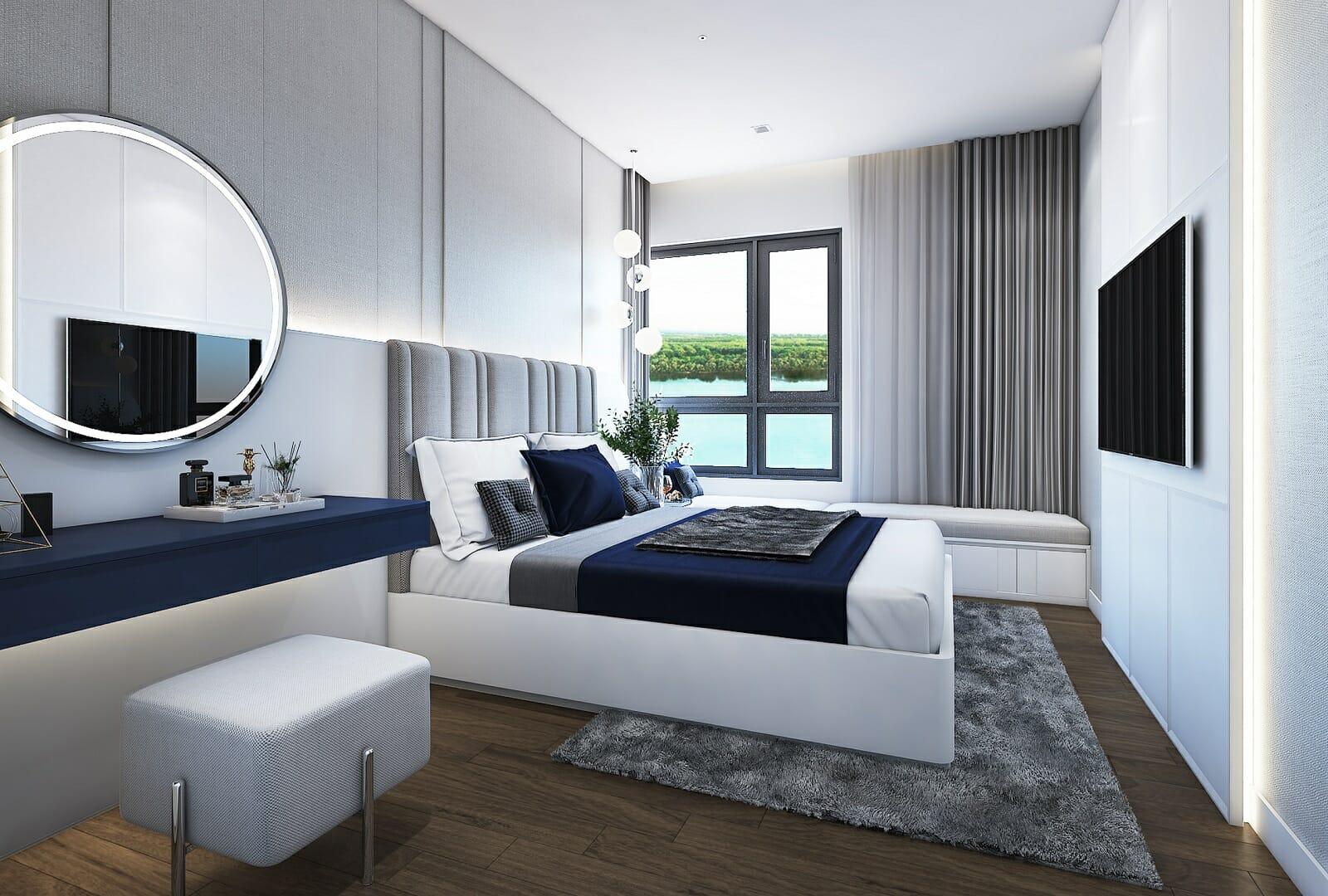 Thiết kế không gian sống căn hộ quận 2 trang nhã, tinh tế