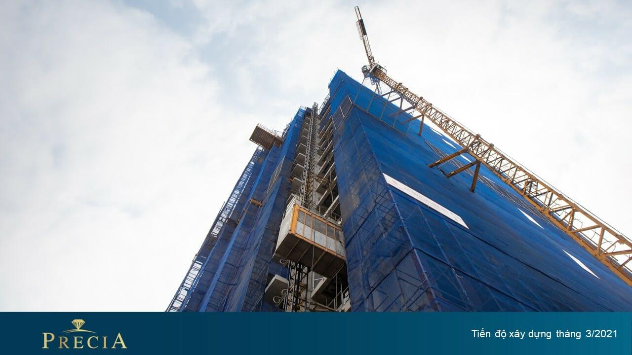 Cập nhật tiến độ xây dựng mới nhất dự án Precia tháng 3/2021
