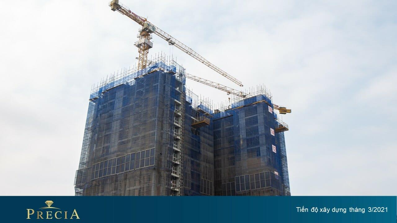 Cập nhật tiến độ xây dựng tháng 3 dự án Precia quận 2