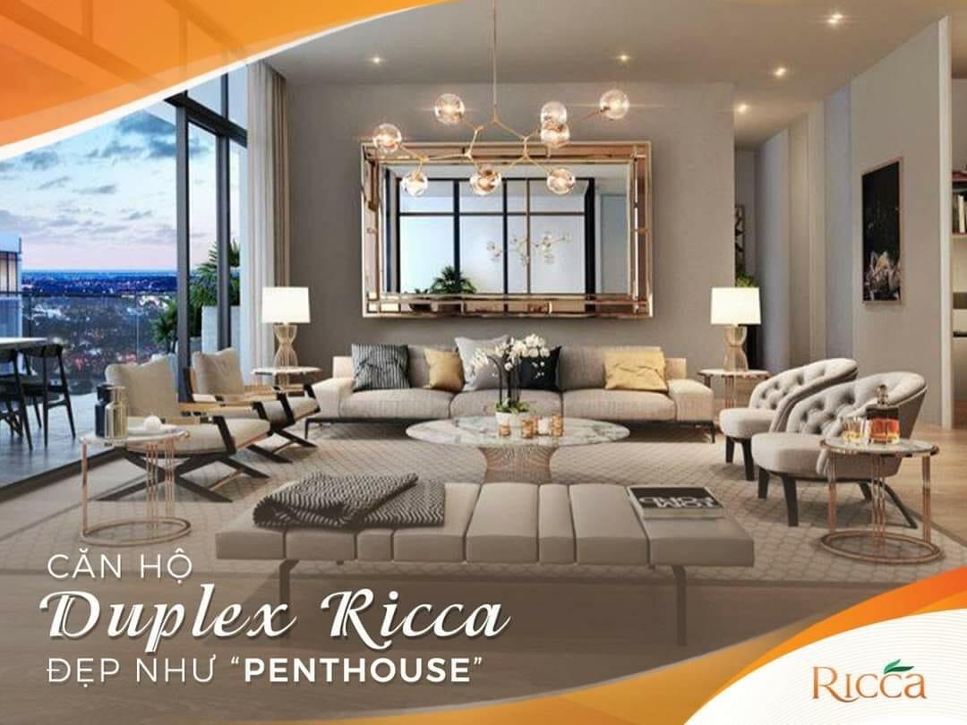Không gian sống Duplex Ricca rộng rãi, sang trọng