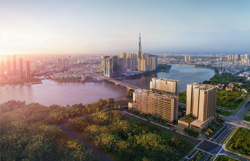 Hiện giá của dự án căn hộ The River Thủ Thiêm khoảng 4.500 USD trở lên, chưa kèm thuế và phí bảo trì