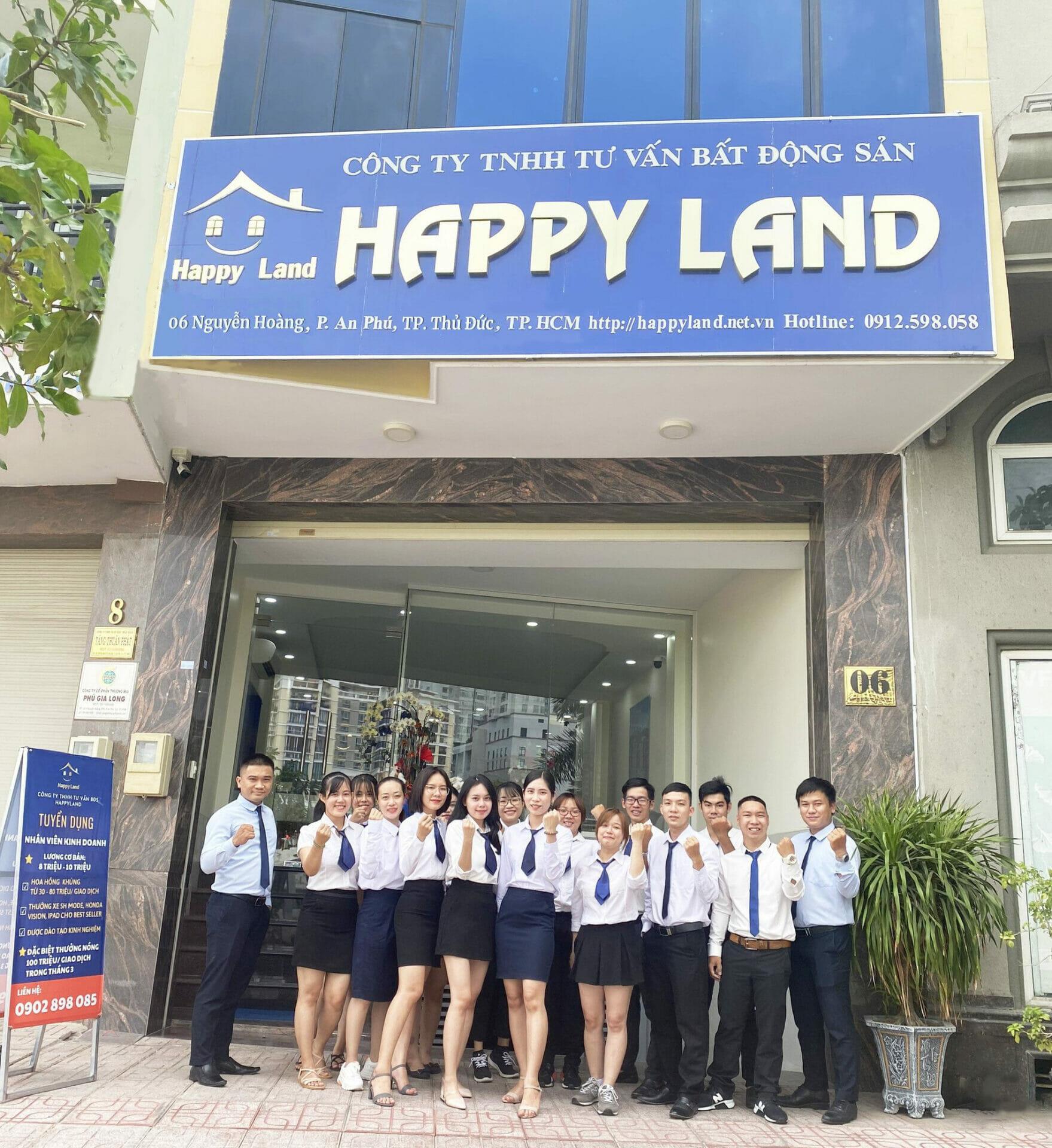 Đội ngũ sale bất động sản chuyên nghiệp tại Happyland