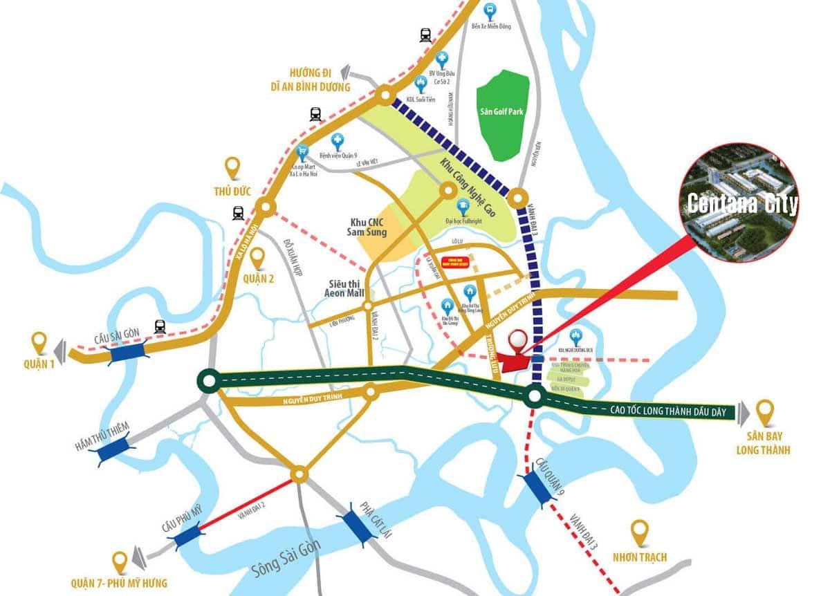 Dự án MT EASTMARK CITY sở hữu vị trí tâm điểm vàng