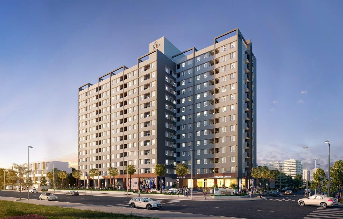 Citrine Apartment nằm cạnh trường Cao đẳng Công thương TP.HCM