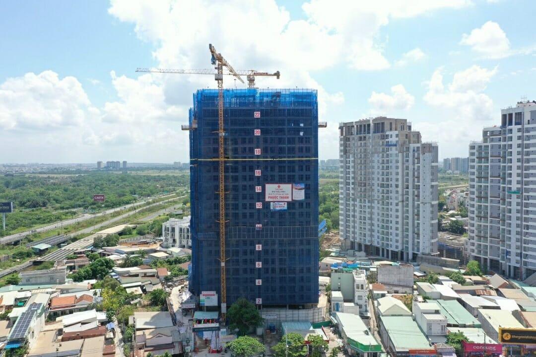tiến độ hoàn thiện dự án căn hộ Precia