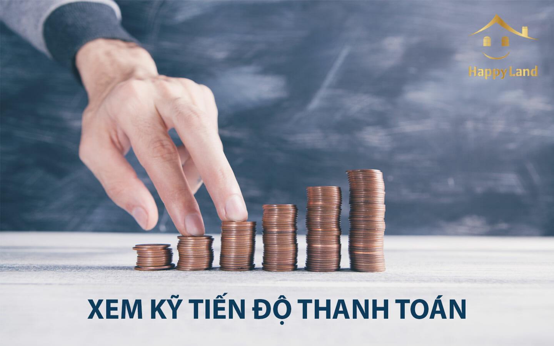 Tiến độ thanh toán là một trong những vấn đề bạn cần đặc biệt quan tâm khi tiến hành thực hiện các thủ tục pháp lý khi mua đất dự án