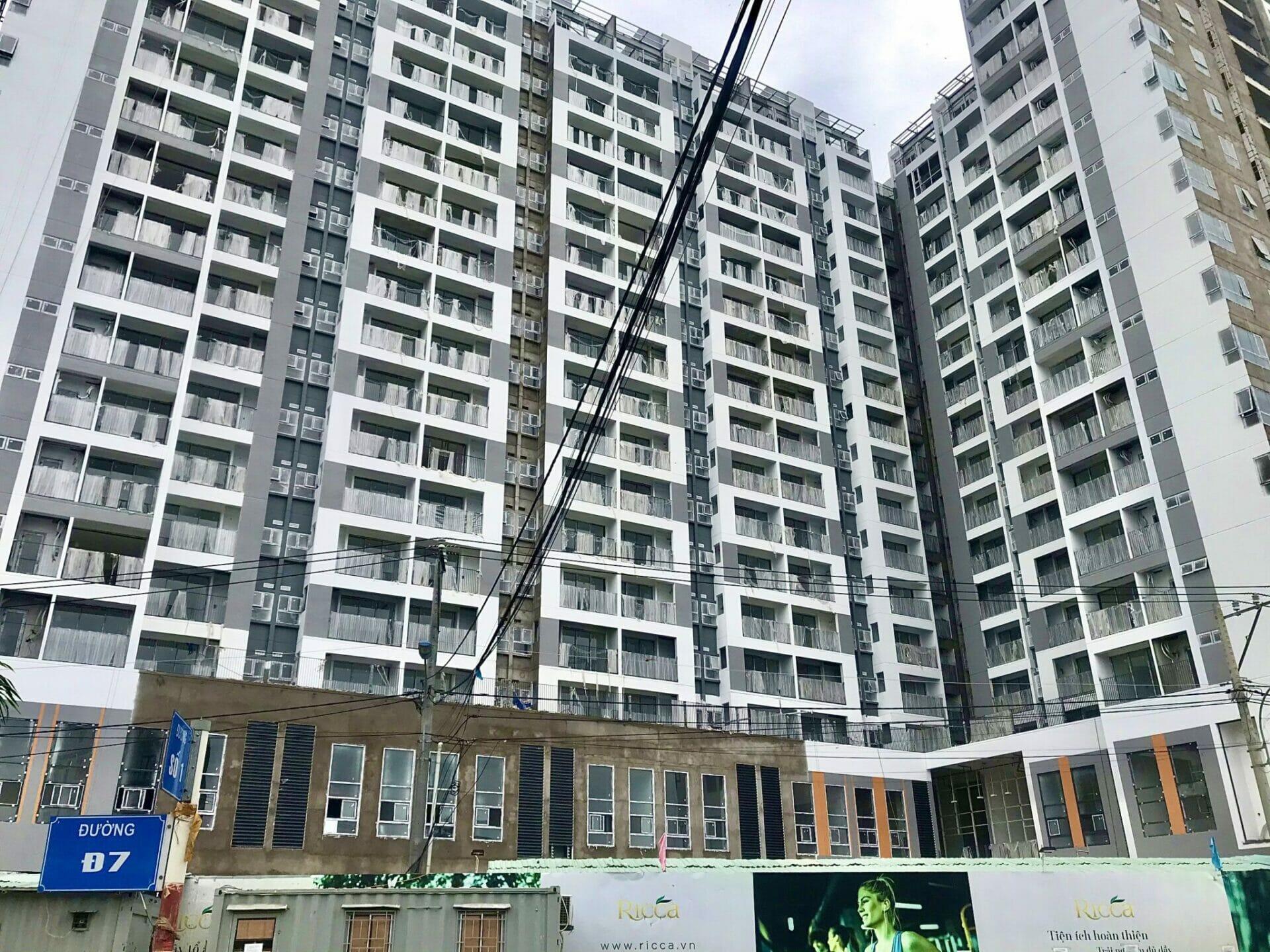 Tiến độ hoàn thiện dự án căn hộ Ricca quận 9